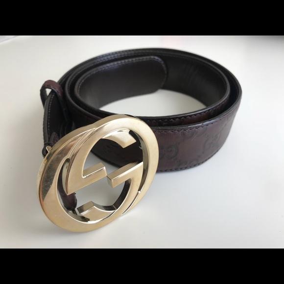 107e14977 Gucci Accessories | Signature Interlock G Logo Belt Women | Poshmark